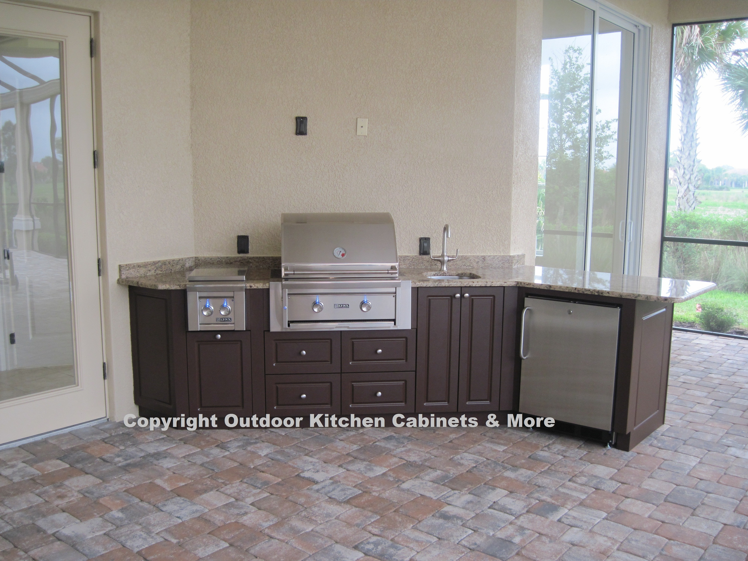 Outdoor kitchen photo gallery outdoor kitchen cabinets for Outdoor kitchen cabinets