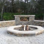 Custom Concrete & Stone Firepit