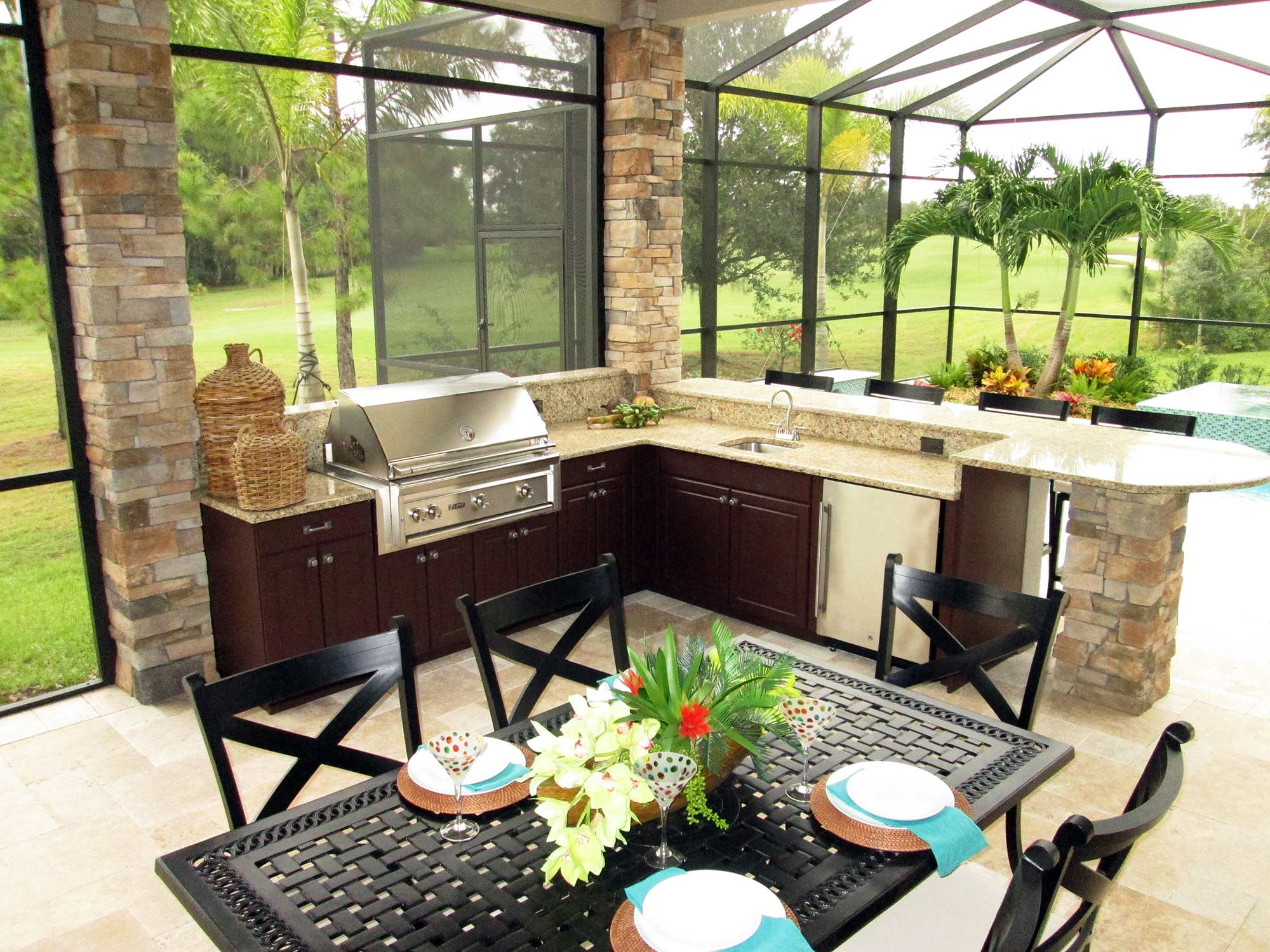 Outdoor Kitchen Cabinets More Quality Outdoor Kitchen Cabinets Grills Fireplaces And More